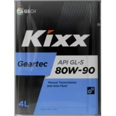Трансмиссионное масло Kixx Geartec GL-5 80W-90 /4л мет.