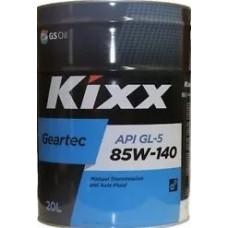 Трансмиссионное масло Kixx Geartec GL-5 85W-140 /20л