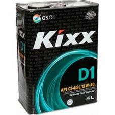 Масло моторное Kixx HD1 CI-4 15W-40 (D1) /4л мет.